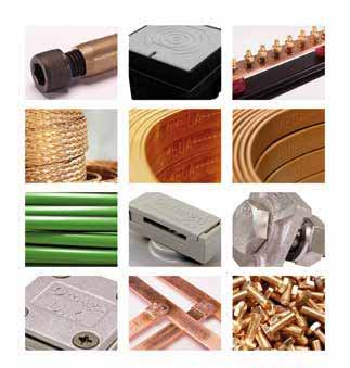 Grounding  MATERIAL  , GROUNDING ROD , EARTH PIT , DC TAPE CLIP , SQUARE TAPE CLAMP