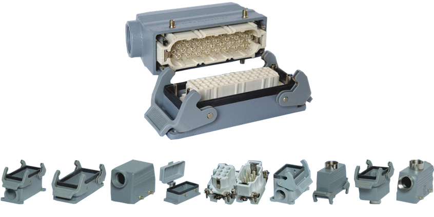 Multipole Connectors for industrial purposes: